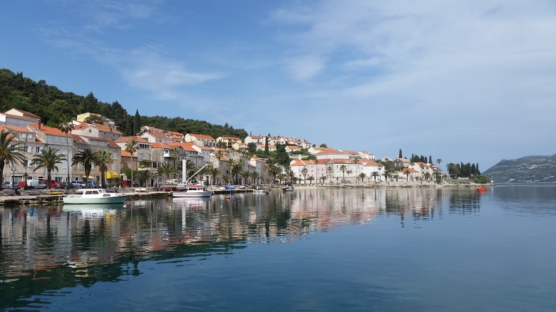 Our last Morning, waiting for the ferry to Hvar